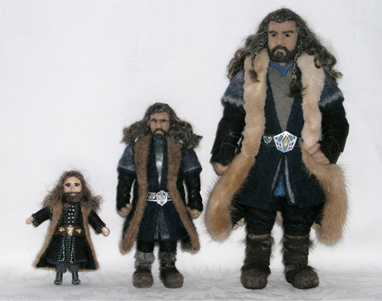 Thorin Oakenshield Needle-Felted Wool Dolls (available in three sizes)