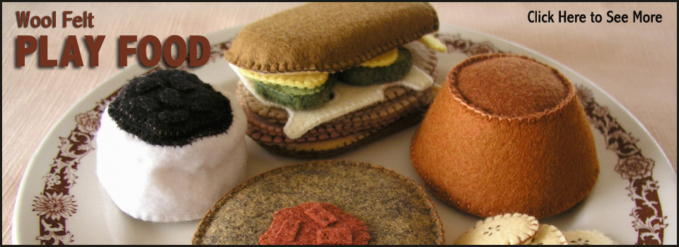 Hand-Sewn Wool Felt Play Food